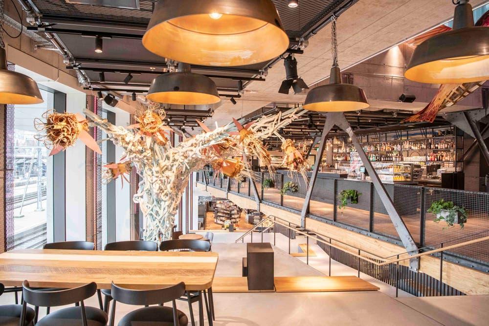 Das neue Foodkonzept der Migros Zürich namens Bridge. (Bild: PD)